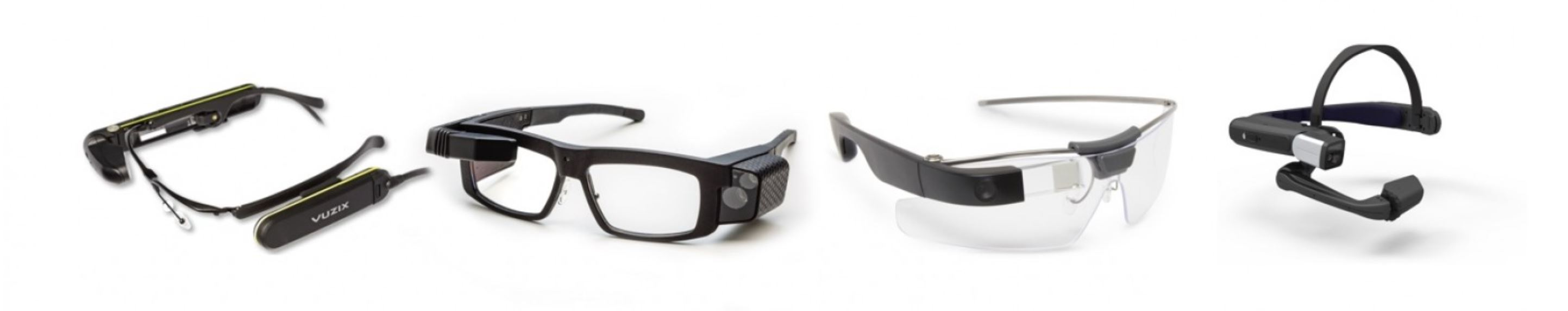 Smart glasses: Vuzix M300, Iristick.Z1, Glass Enterprise and Realwear-HMT1